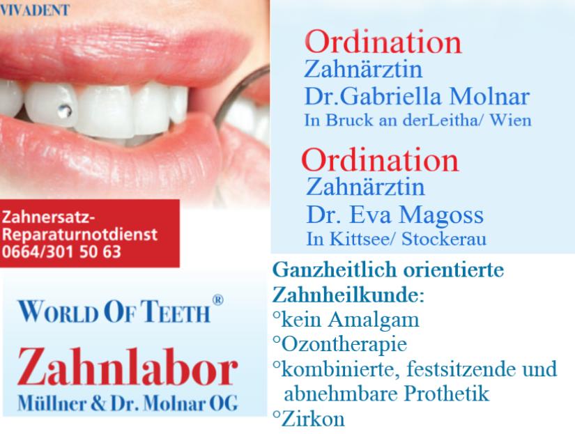 Bild von: Müllner & Dr. Molnar OG, Gabriella, Dr., FA f Zahn-, Mund- u Kieferheilkunde
