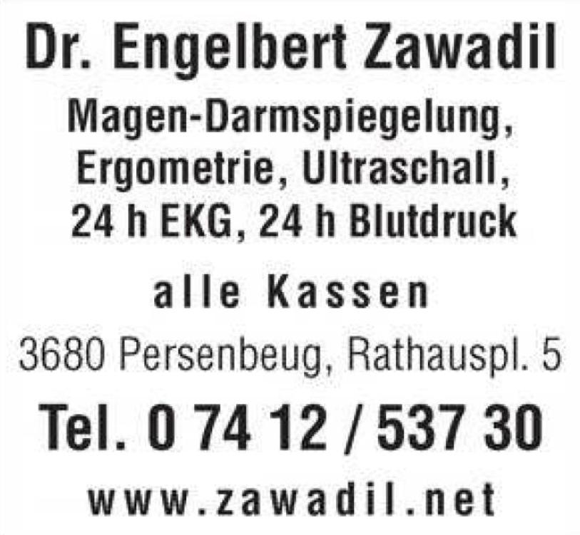 Bild von: Zawadil, Engelbert, Dr., FA f Innere Medizin