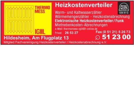 thermomess igiil heizkostenverteiler in hildesheim in. Black Bedroom Furniture Sets. Home Design Ideas
