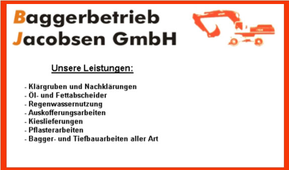 Baggerbetrieb Jacobsen GmbH