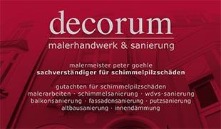 Goehle, Peter Malermeister decorum - Malerhandwerk & Sanierung