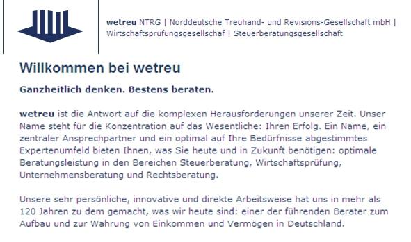 wetreu NTRG Norddeutsche Treuhand- und Revisions-Gesellschaft mbH