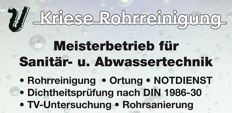 Kriese Reinhard Sanitär, Heizung, Elektro, Abwasser