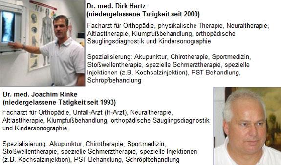 Orthopädische Gemeinschaftspraxis Dr.med. Joachim Rinke u. Dr.med. Dirk Hartz