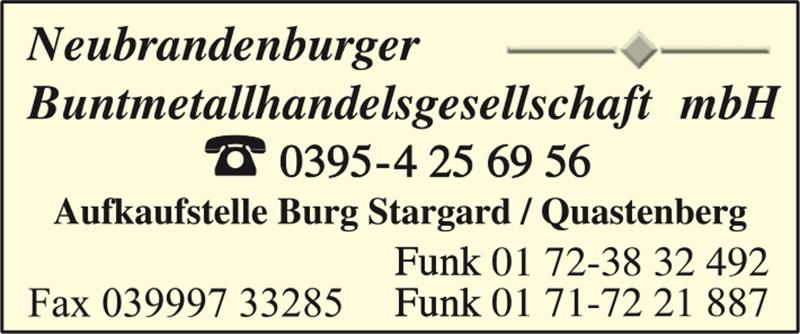 Neubrandenburger Buntmetallhandelsgesellschaft mbH
