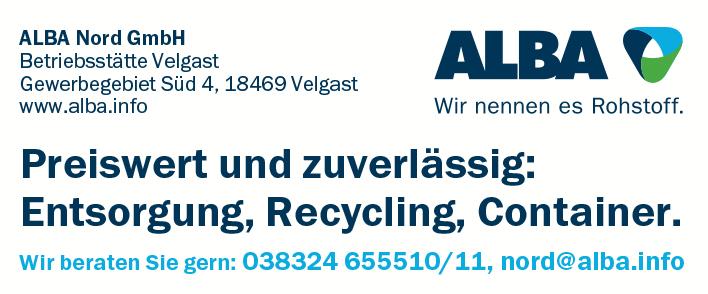 ALBA Nord GmbH Betriebsstätte Velgast